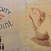 Vintage Nose Art Naughty Nadine Print by Cinema Photography