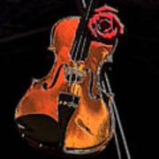 Violin Extreme Print by Marsha Heiken