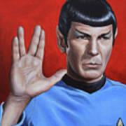 Vulcan Farewell Print by Kim Lockman