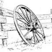 Wagon Wheel Print by Bob Hallmark
