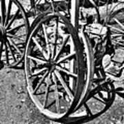 Wagon Wheel Graveyard Print by Douglas Barnard
