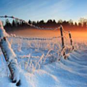 Warm Cold Winter Sunset Print by Romeo Koitmae
