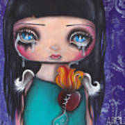 Wash Away My Tears Print by  Abril Andrade Griffith