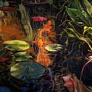 Water Garden Series A Print by Patricia Reed