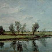 Water Meadows Near Salisbury Print by John Constable