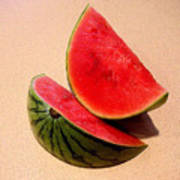 Watermelon Study Print by Lucyna A M Green