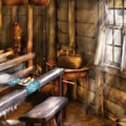 Weaver - The Weavers Room Print by Mike Savad
