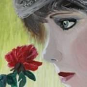 Wedding Rose Print by J Bauer