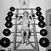 Weightlifting Woman Print by Evans