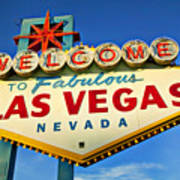 Welcome To Las Vegas Sign Print by Garry Gay