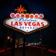 Welcome To Las Vegas Print by Steve Gadomski