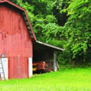 West Virginia Barn And Baler Print by Thomas R Fletcher