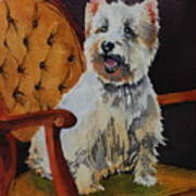 Westie Angel Dusty Print by Donna Pierce-Clark