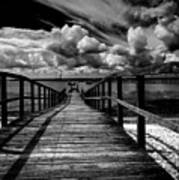 Wharf At Southend On Sea Print by Avalon Fine Art Photography