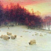 When The West With Evening Glows Print by Joseph Farquharson