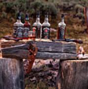 Whiskey And Guns Print by Leland D Howard
