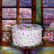 White Frosted Cake Print by Mary Ogle and Miki Klocke