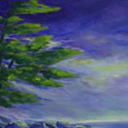 Windy Lake Superior Print by Joanne Smoley