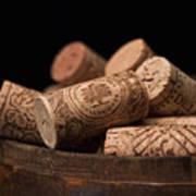 Wine Corks Print by Tom Mc Nemar