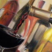 Wine Pour II Print by Donna Tuten