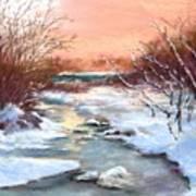 Winter Brook Print by Jack Skinner