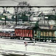 Winter Transport Print by Wim Lanclus