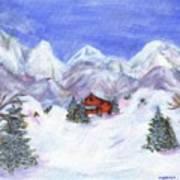 Winter Wonderland - Www.jennifer-d-art.com Print by Jennifer Skalecke