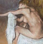 Woman Drying Her Arm Print by Edgar Degas