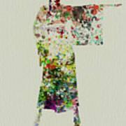 Woman In Kimono Print by Naxart Studio