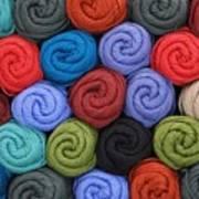Wool Yarn Skeins Print by Jim Hughes