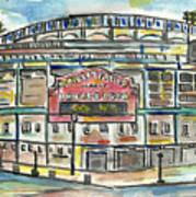 Wrigley Field Print by Matt Gaudian
