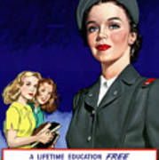 Ww2 Us Cadet Nurse Corps Print by War Is Hell Store