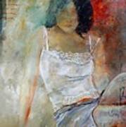 Young Girl Sitting Print by Pol Ledent