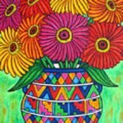 Zinnia Fiesta Print by Lisa  Lorenz