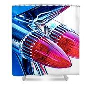 1959 Caddy Shower Curtain by David and Carol Kelly
