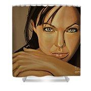 Angelina Jolie Voight Shower Curtain by Paul Meijering
