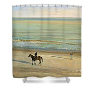 Beach Dialogue Dunwich Shower Curtain by Timothy  Easton