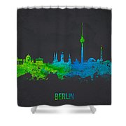 Berlin Germany Shower Curtain by Aged Pixel