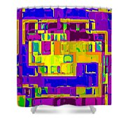 Bold And Colorful Phone Case Artwork City Abstracts By Carole Spandau Cbs Art Exclusives 132  Shower Curtain by Carole Spandau