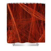 Dancing Flames 1 V - Panorama - Abstract - Fractal Art Shower Curtain by Andee Design