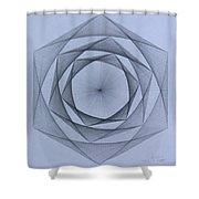 Energy Spiral Shower Curtain by Jason Padgett