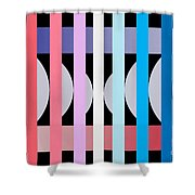 Fun Geometric  Shower Curtain by Mark Ashkenazi