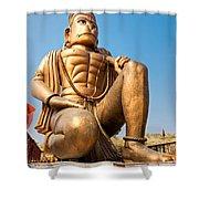 Great Bronze Hanuman - India Shower Curtain by Luciano Mortula