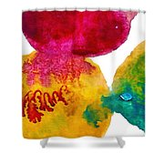 Interactions 3 Shower Curtain by Amy Vangsgard
