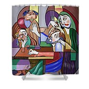 Jesus Anointed At Bethany Shower Curtain by Anthony Falbo