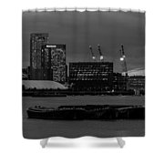 London Docklands Shower Curtain by Dawn OConnor