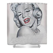 Marilyn Monroe Shower Curtain by Eric Dee