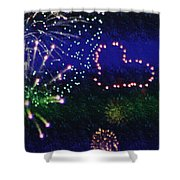 My 4th Of July Shower Curtain by Janie Johnson