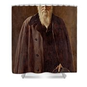 Portrait of Charles Darwin Shower Curtain by John Collier