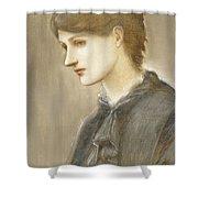 Portrait Of Mrs William J Stillman Nee Marie Spartali Shower Curtain by Sir Edward Coley Burne Jones